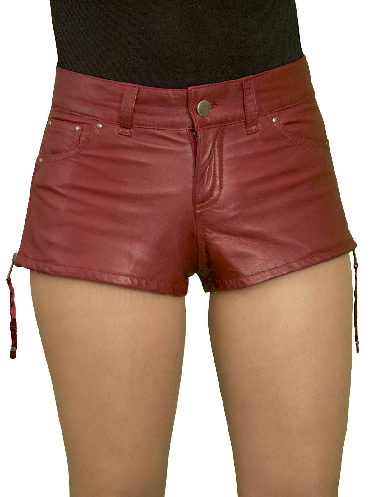 womens leather boxer shorts red / womens boxer shorts