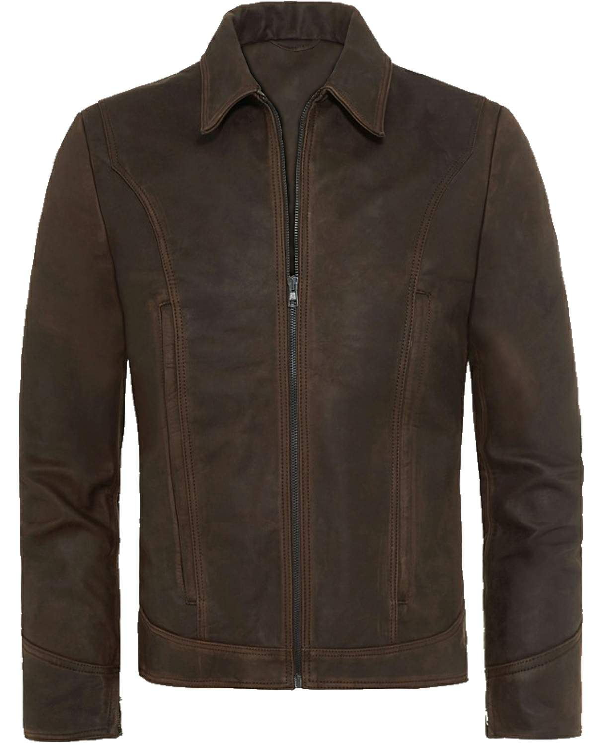 brown snuff leather jacket