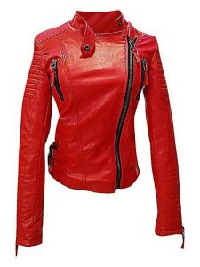 christmas essentials, exciting red leather jacket