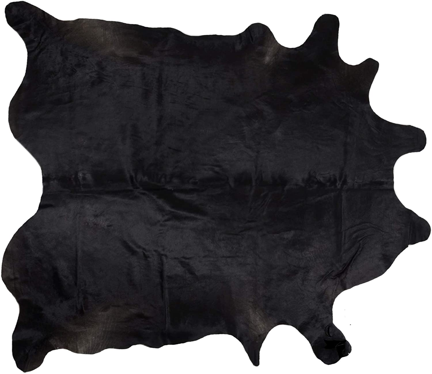 cowhide rugs jet black