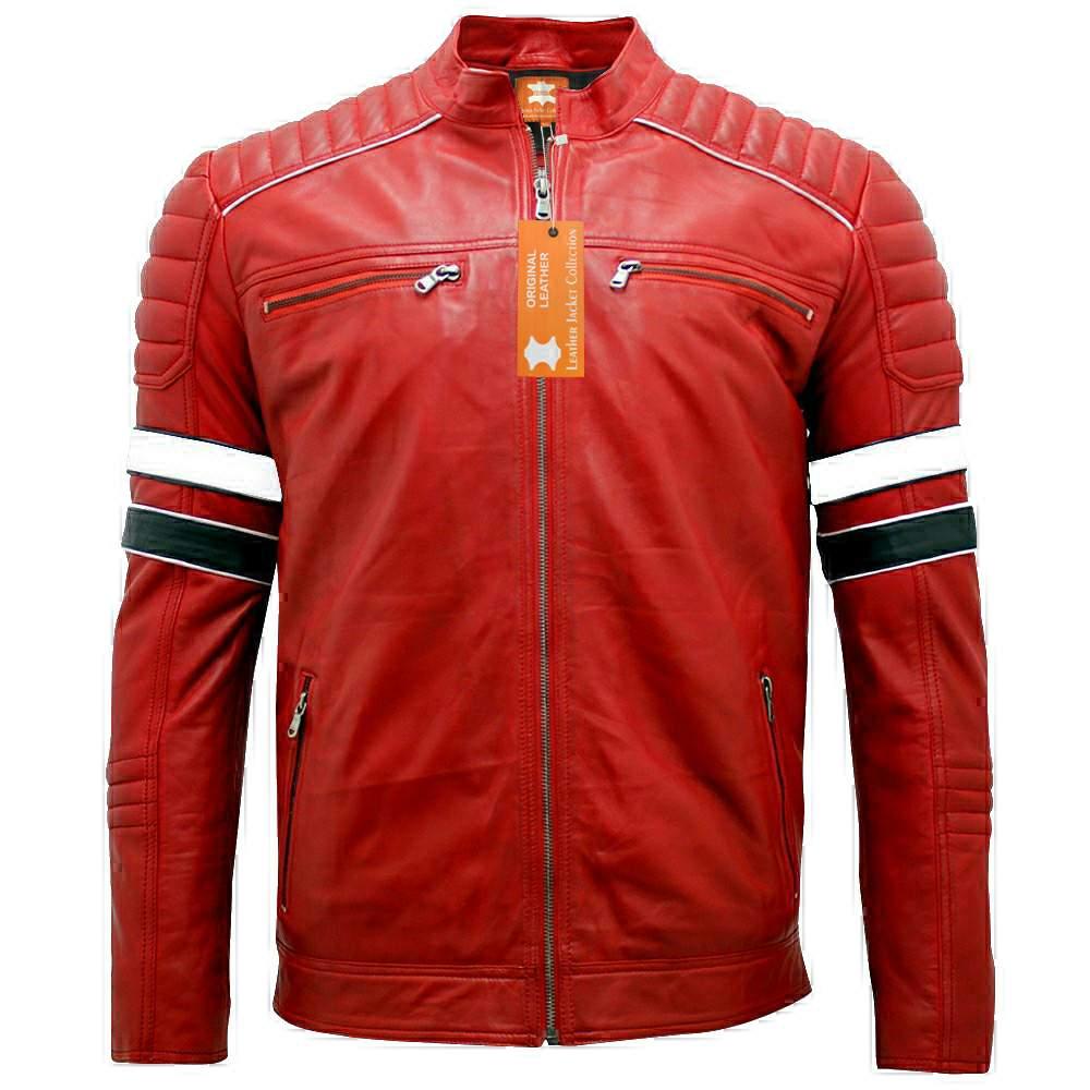 mayhem cafe racer retro / Black genuine leather jacket motorcycle leather jacket