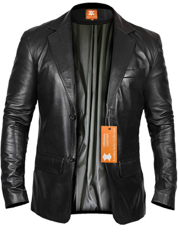 blazer coat black leather