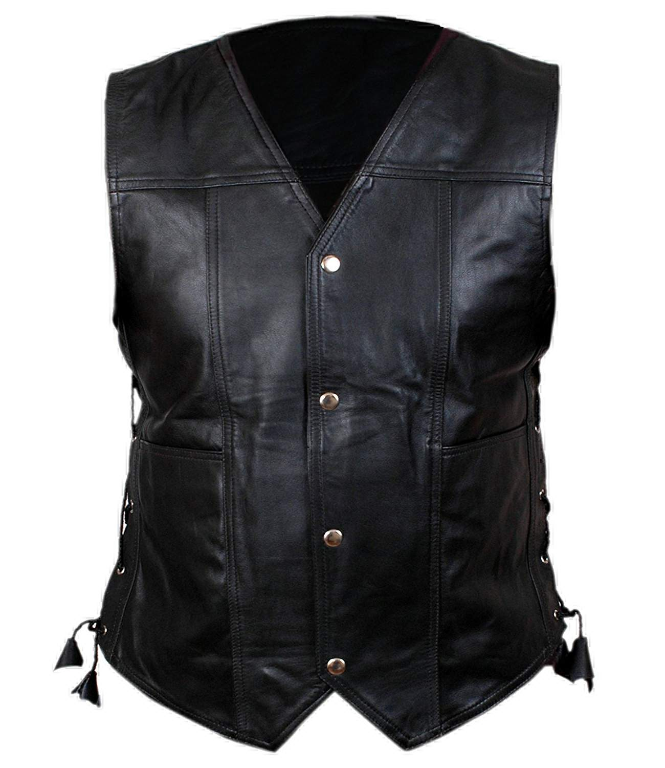 Leather Vest | Daryl Dixon, Real Cowhide, Men Leather ...