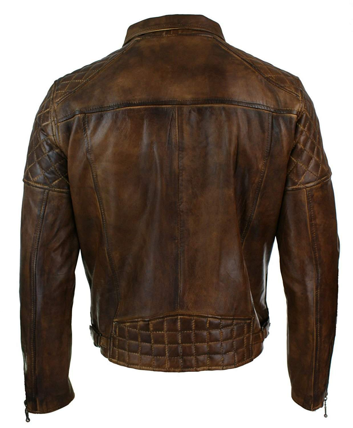 distressed brown leather