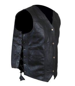 angel vest leather vest