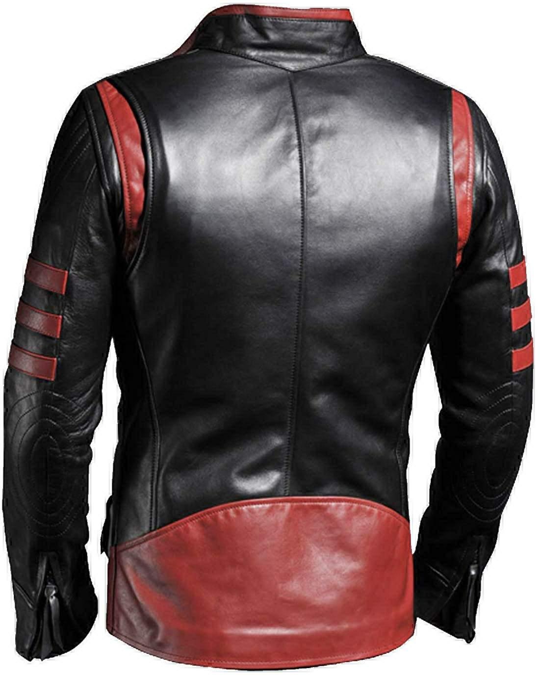 black leather jacket cafe racer