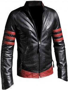 black leather jacket movie style cafe racer