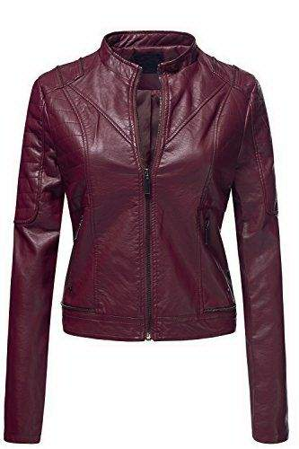 red womens bomber jacket