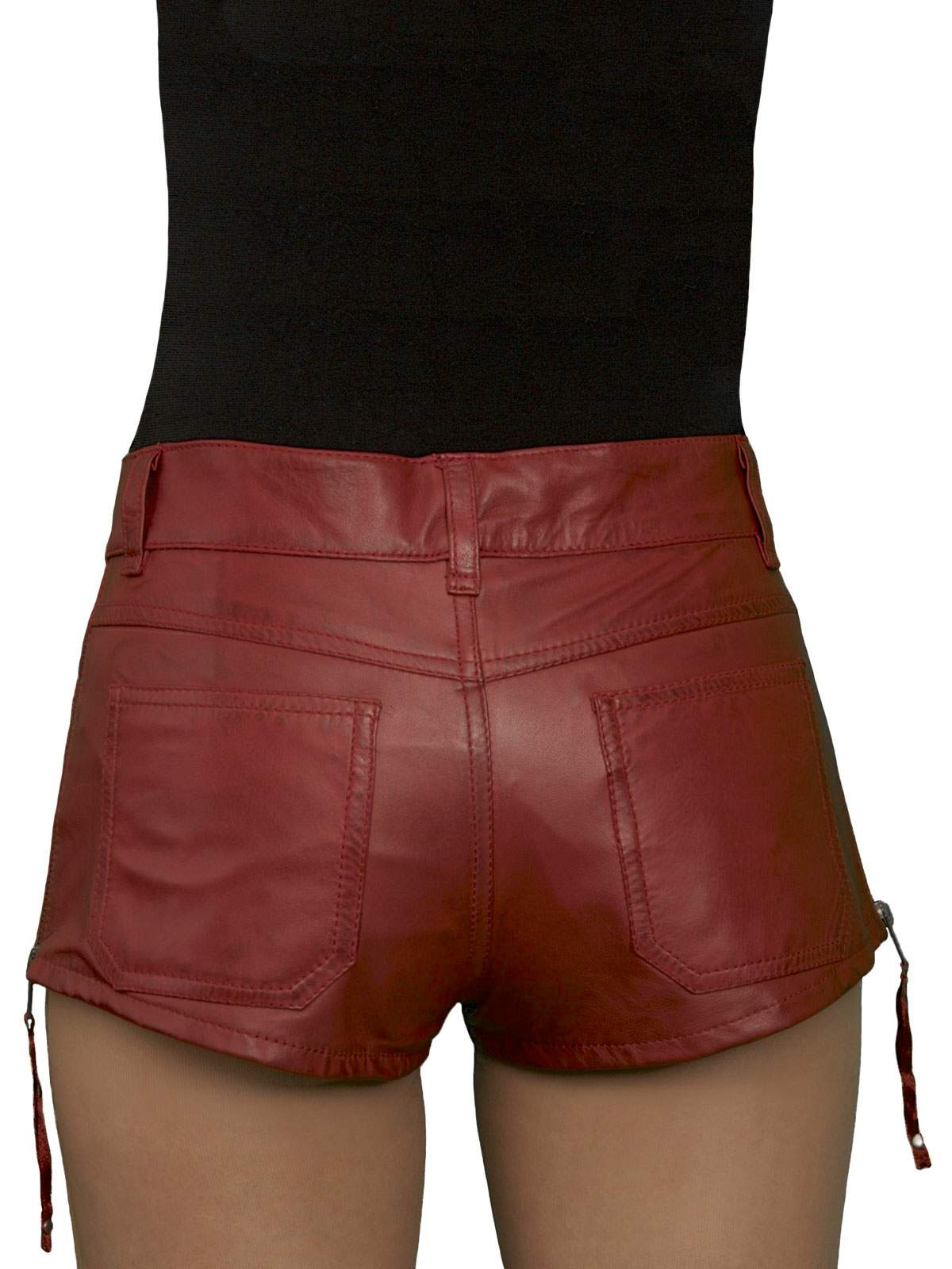 red leather boxer short